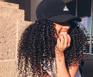 hair, adidas, and curly image