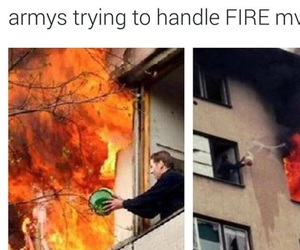 bts, army, and fire image