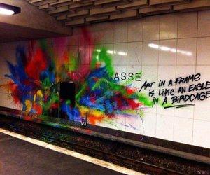 art, graffiti, and frame image