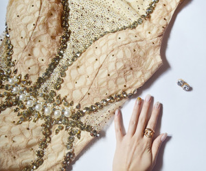 adore, beige, and diamonds image