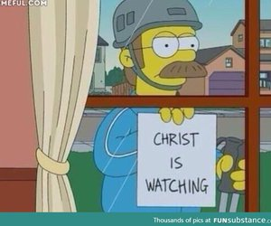 simpsons, funny, and Christ image