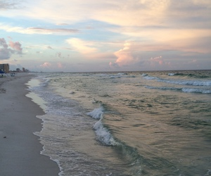 sea, beach, and sky image