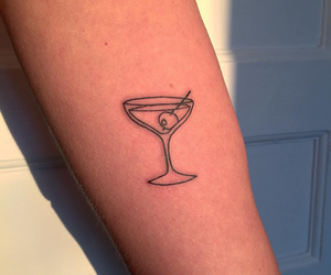 tattoo, drink, and tumblr image
