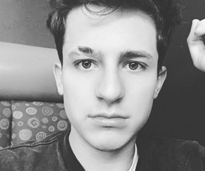 charlie puth, black and white, and boy image