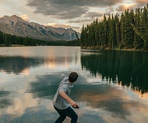 landscape, nature, and boy image