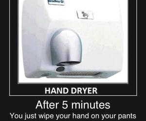 funny, hand dryer, and lol image