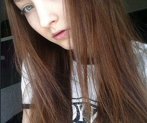 brown hair, face, and girl image