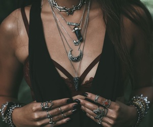fashion, hipster style, and hipster necklaces image