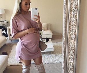 casual, comfy, and pregnant image