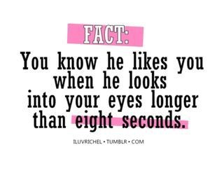 love, fact, and eyes image