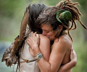 love, dreadlocks, and hippie image