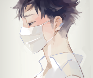 art, mask, and anime guy image