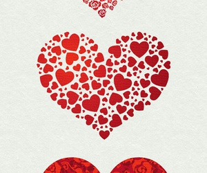 heart, patterns, and red image