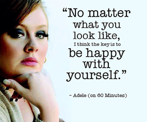 Adele, happy, and quote image
