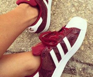 adidas, red, and shoes image