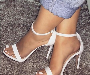 shoes, white, and toes image