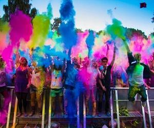fun, colors, and festival image