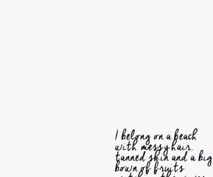 beach, handwriting, and i AM image
