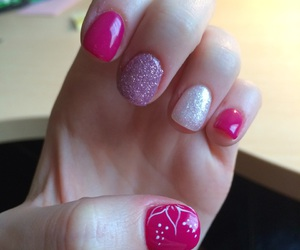 gel, nails, and pink image