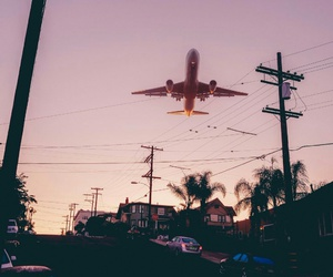 city, evening, and fly image