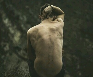 boy, back, and nature image