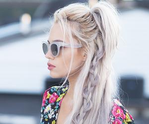 braid, messy, and sunglasses image