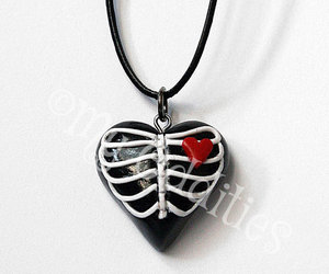 black, gothic, and jewelry image