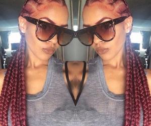 black girl, cornrow braids, and goals image