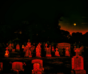 graveyard, aesthetic, and cemetery image
