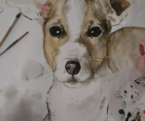 animals, painting, and art image