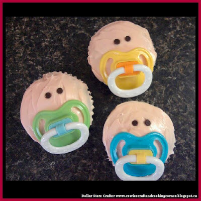 cupcakes, baby shower food, and baby shower favors image