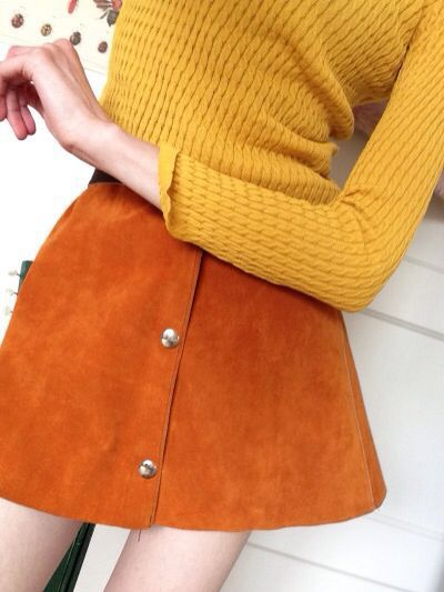 Aesthetic Clothes Fashion Indie Orange Outfit Pale Skirt