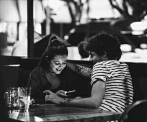 louis tomlinson, louis, and danielle campbell image