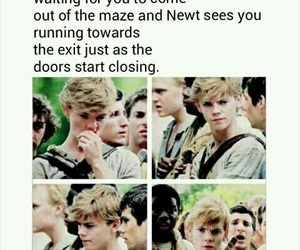 newt, imagines, and maze runner image