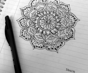 black and white, drawings, and flower image