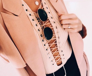 fashion, lace up, and outfit image