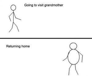 funny, grandmother, and food image