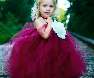 pink, baby, and dress image