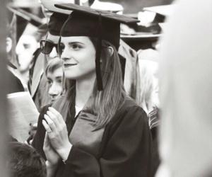 emma watson, graduation, and beauty image