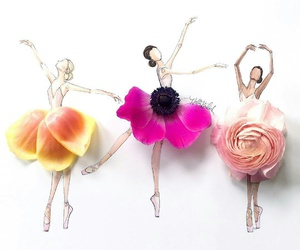 flowers, art, and ballet image