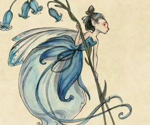 fairy, blue, and flower image