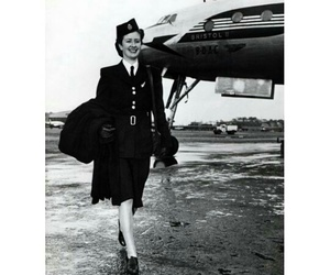 50's, aviation, and black image