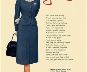 50's, aviation, and stewardess image