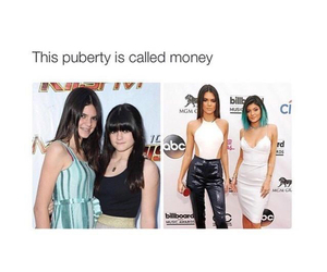 puberty, kendall jenner, and money image