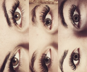beuty, extensions, and lashes image