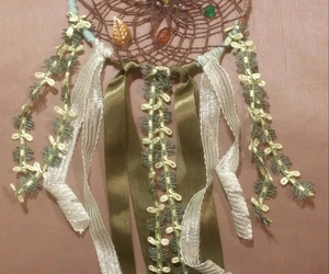 dreamcatcher, forest, and ribbons image