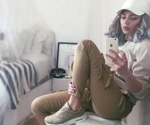 beauty, nike, and outfit image
