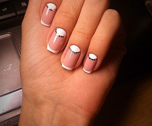fashionable, manicure, and french image