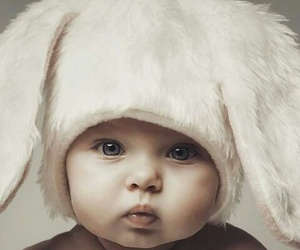 baby, child, and bunny image