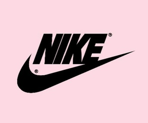 nike, pink, and wallpaper image